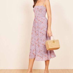 Reformation Rosehip Floral Dress Midi Pockets